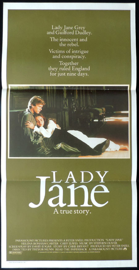 LADY JANE Original Australian Daybill Movie poster Helena Bonham Carter