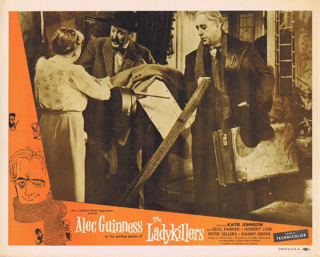 THE LADYKILLERS Original Lobby Card 3 Alec Guinness Cecil Parker Ealing