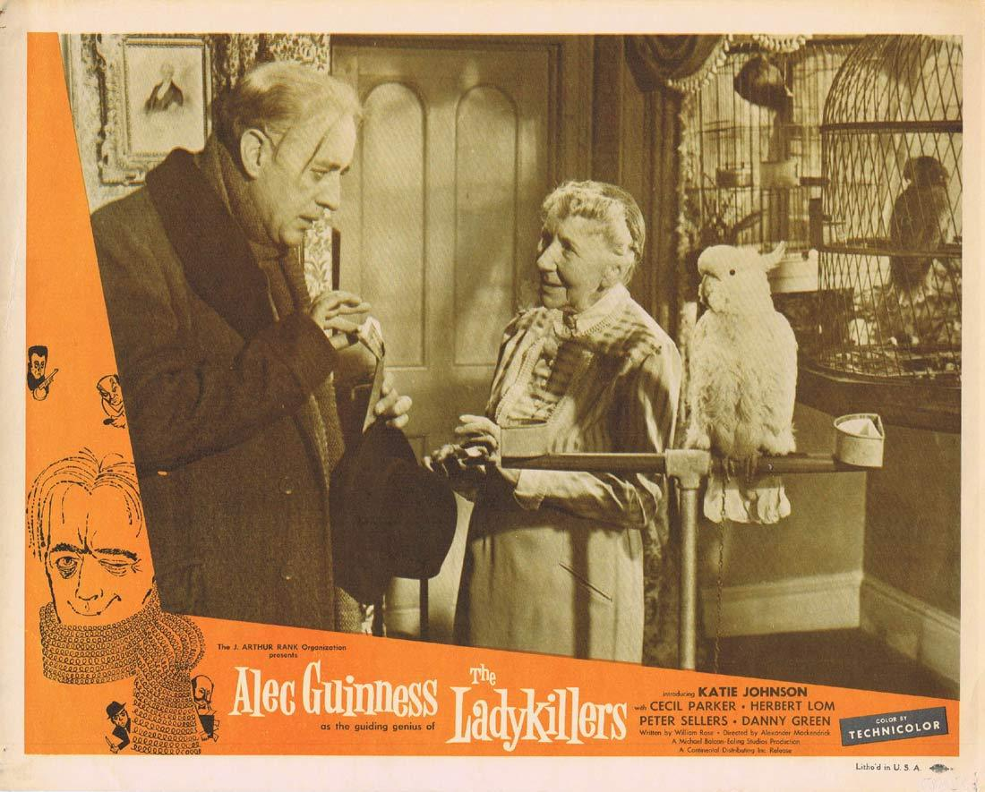 THE LADYKILLERS Original Lobby Card 2 Alec Guinness Cecil Parker Ealing
