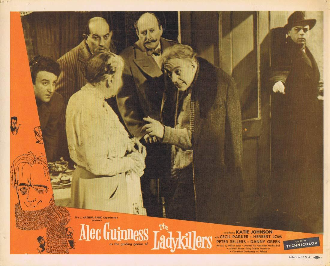 THE LADYKILLERS Original Lobby Card 4 Alec Guinness Cecil Parker Ealing