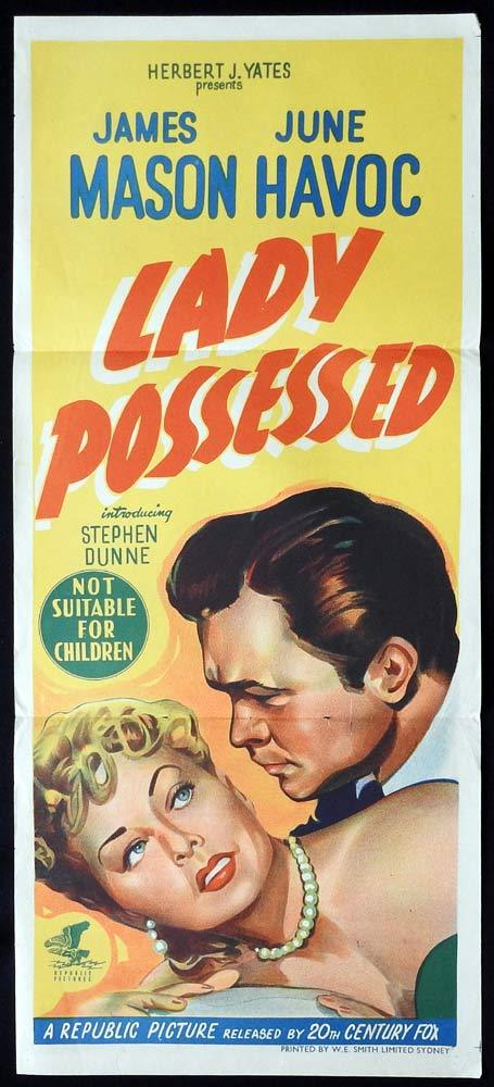 LADY POSESSED Original Daybill Movie poster James Mason June Havoc