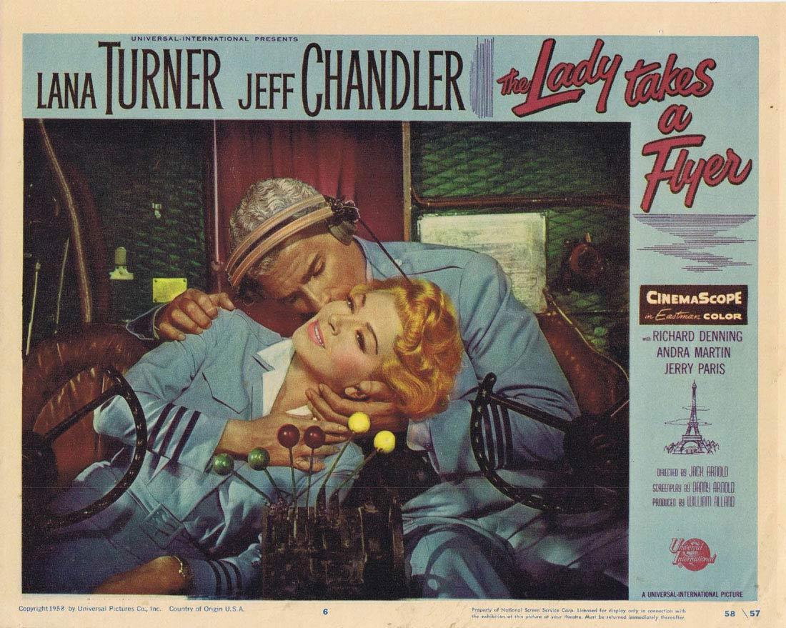 THE LADY TAKES A FLYER Vintage Lobby Card 6 Lana Turner Richard Denning