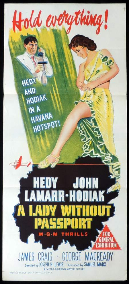 LADY WITHOUT A PASSPORT Original Daybill Movie Poster Hedy Lamarr Film Noir