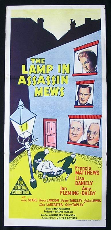 LAMP IN ASSASSIN MEWS Daybill Movie Poster Francis Matthews