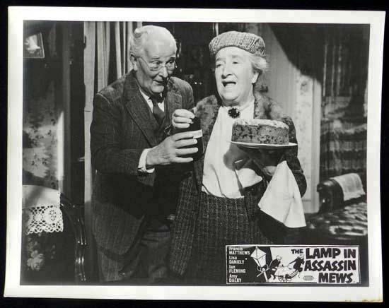 LAMP IN ASSASSIN MEWS Rare British Film Noir Lobby Card 1
