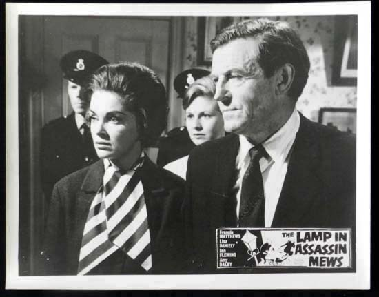 LAMP IN ASSASSIN MEWS Rare British Film Noir Lobby Card 3