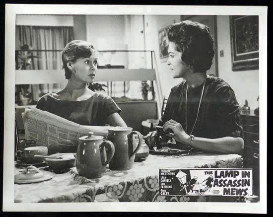 LAMP IN ASSASSIN MEWS Rare British Film Noir Lobby Card 4