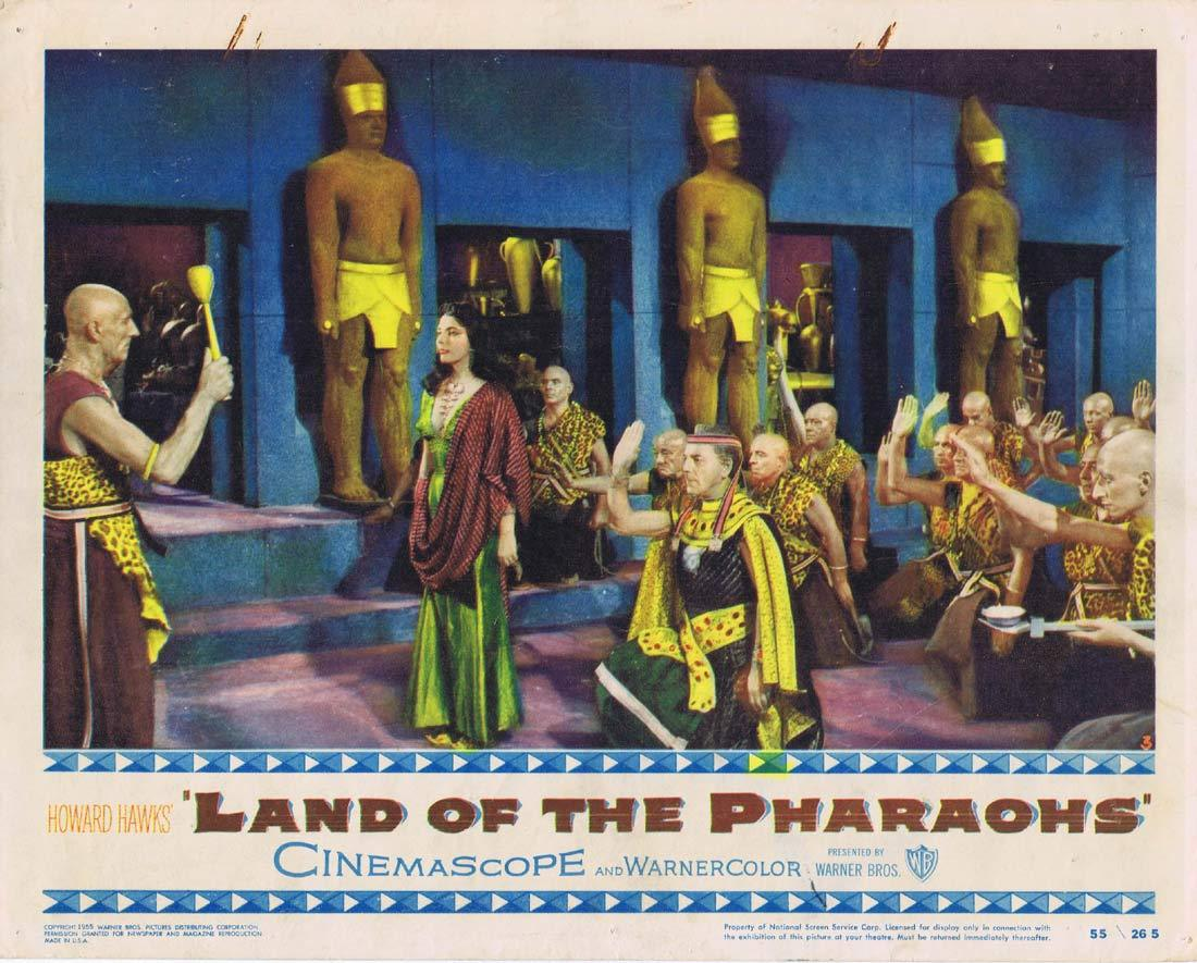 LAND OF THE PHARAOHS Original Lobby Card 2 Jack Hawkins Joan Collins