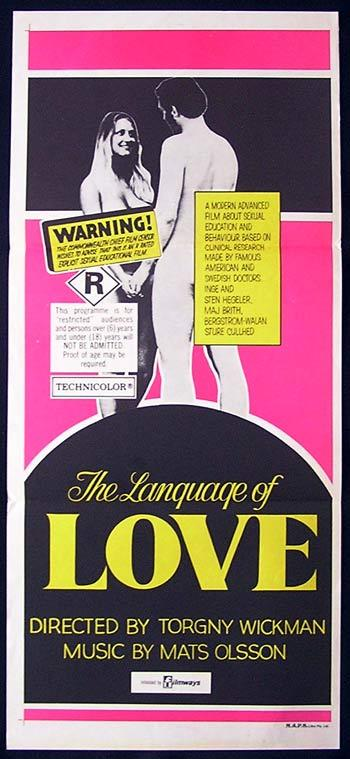 THE LANGUAGE OF LOVE 1969 Rare SWEDISH SEXPLOITATION poster