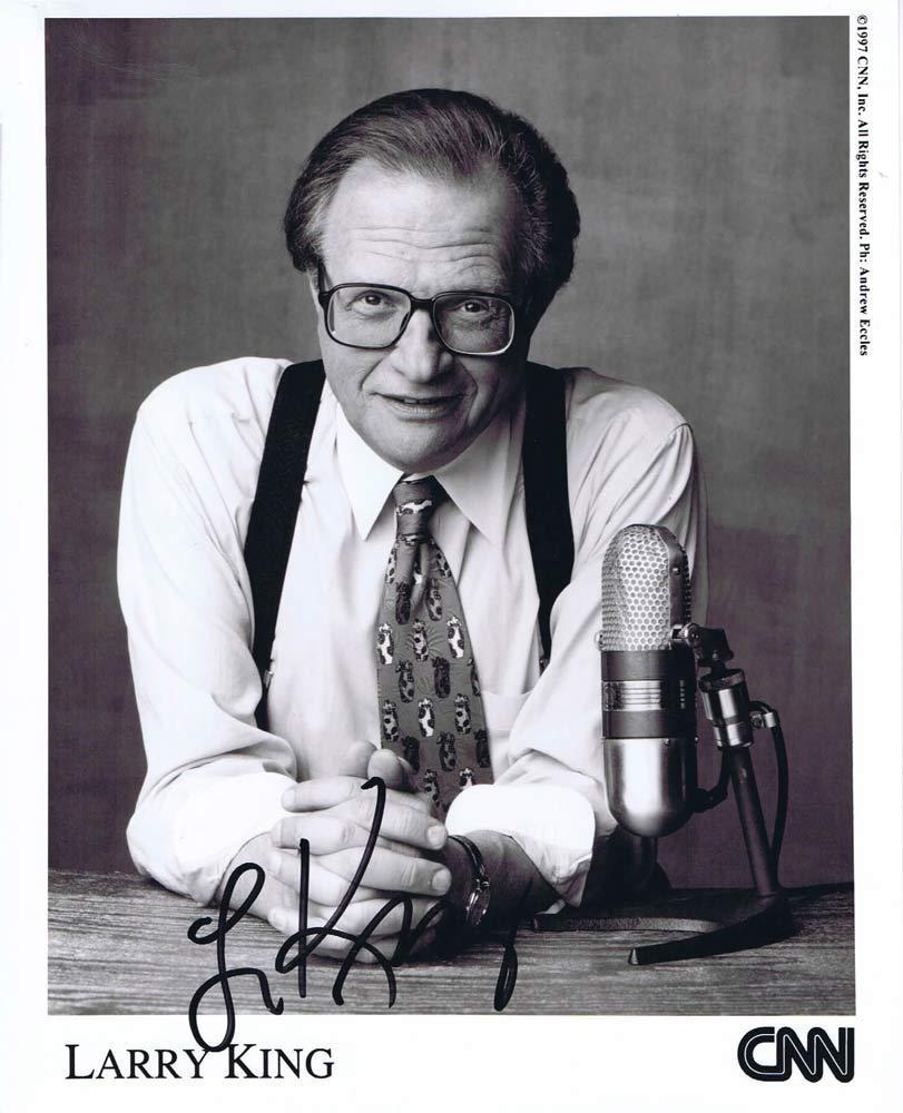 LARRY KING Autograph 8 x 10 Photo CNN