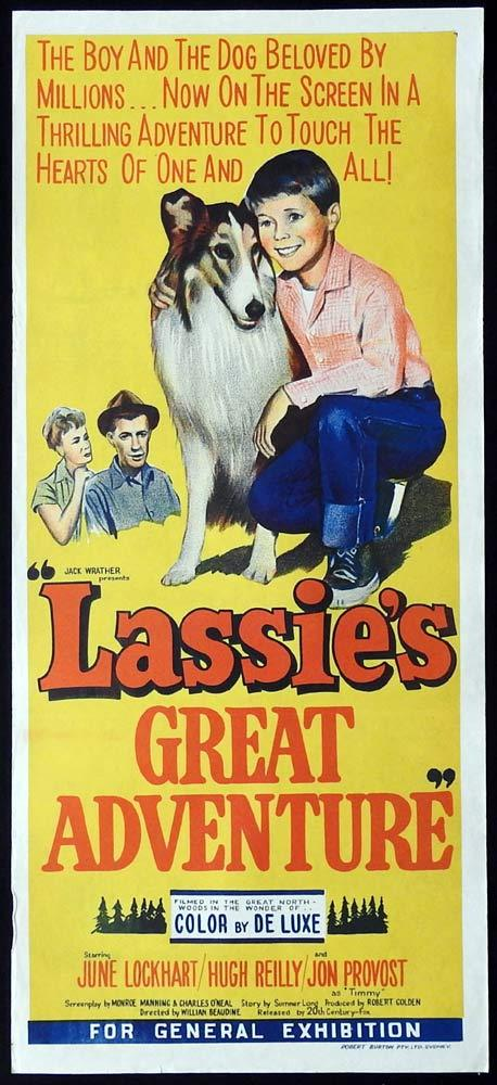LASSIE'S GREAT ADVENTURE Original Daybill Movie Poster June Lockhart Jon Provost