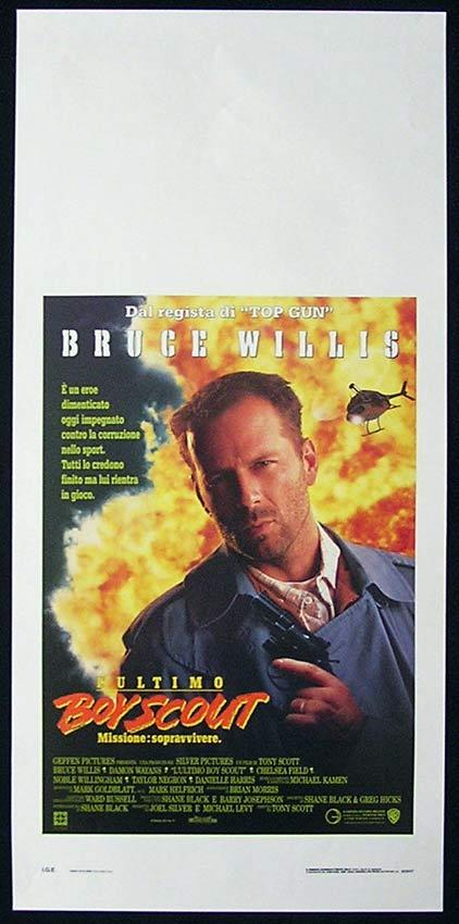 THE LAST BOY SCOUT Italian Locandina Movie Poster Bruce Willis