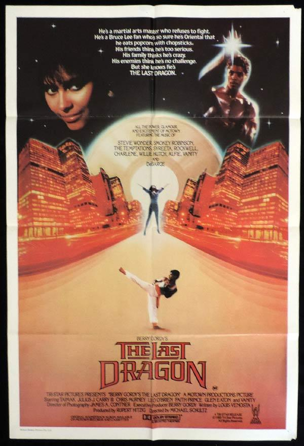 THE LAST DRAGON One Sheet Movie Poster Taimak Berry Gordy