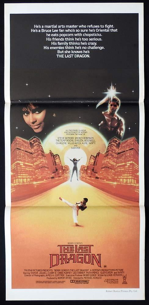 THE LAST DRAGON Original Daybill Movie poster Taimak Vanity Martial Arts Kung Fu