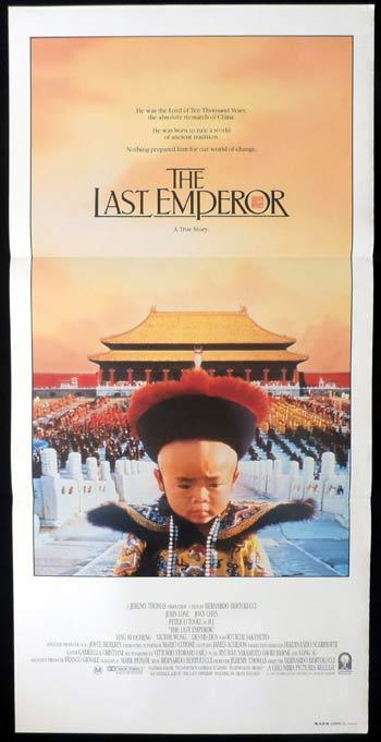 THE LAST EMPEROR Daybill Movie poster Peter O'Toole