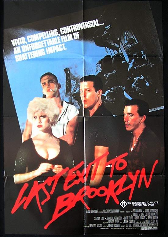 LAST EXIT TO BROOKLYN Original One sheet Movie poster Jennifer Jason Leigh