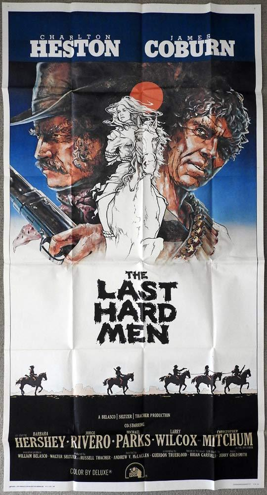 THE LAST HARD MEN Original 3 Sheet Movie Poster Charlton Heston