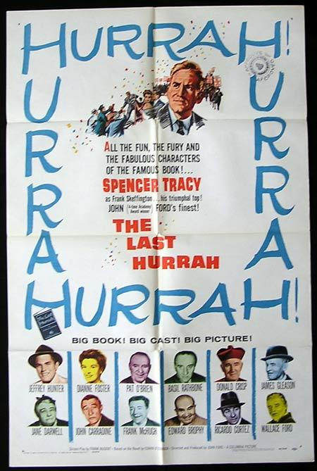 THE LAST HURRAH Original One sheet Movie poster Spencer Tracy John Ford