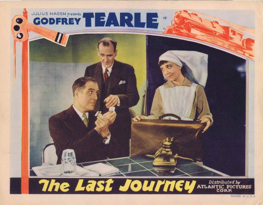 THE LAST JOURNEY Lobby Card 1936 Godfrey Tearle
