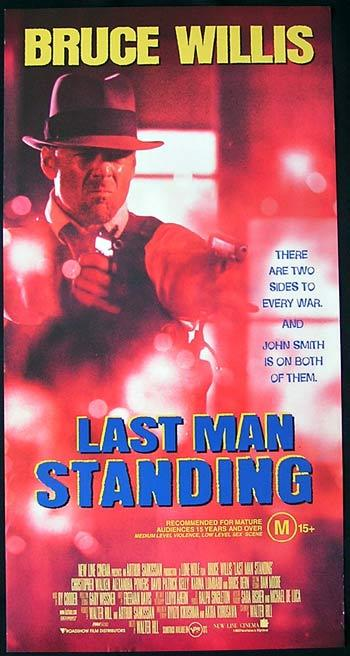LAST MAN STANDING Original Daybill Movie poster Bruce Willis