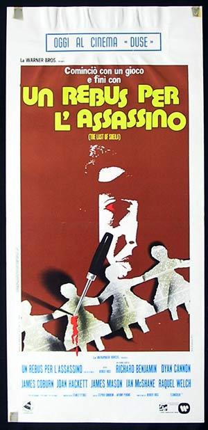 THE LAST OF SHEILA Original Locandina Movie Poster Richard Benjmin