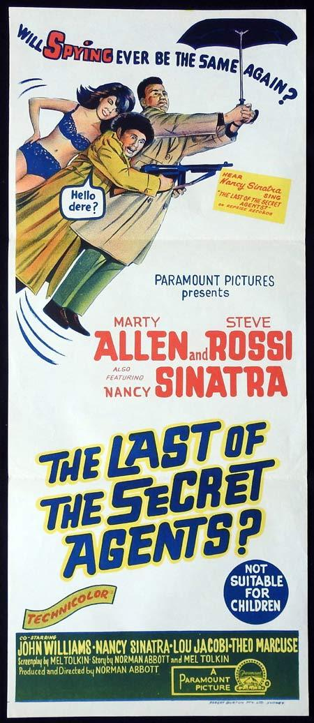 THE LAST OF THE SECRET AGENTS Original Daybill Movie Poster Marty Allen Nancy Sinatra