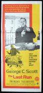 THE LAST RUN Daybill Movie poster George C.Scott
