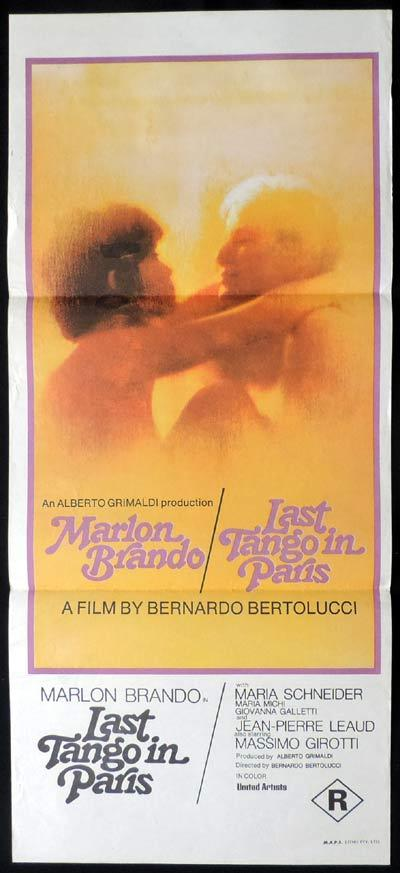 LAST TANGO IN PARIS Original Daybill Movie Poster Bernardo Bertolucci. Marlon Brando