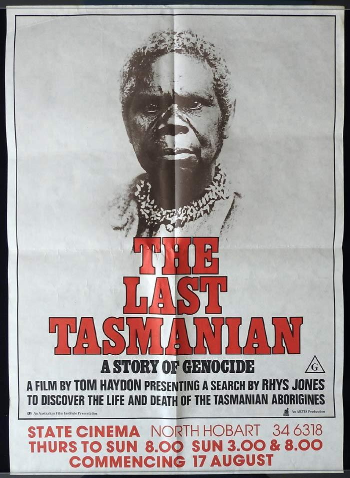 THE LAST TASMANIAN Australian Movie Poster Leo McKern
