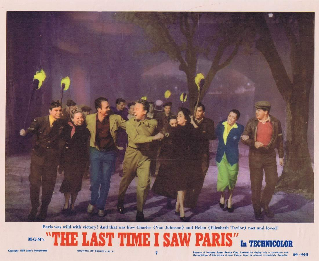 THE LAST TIME I SAW PARIS Original Lobby Card 7 Elizabeth Taylor