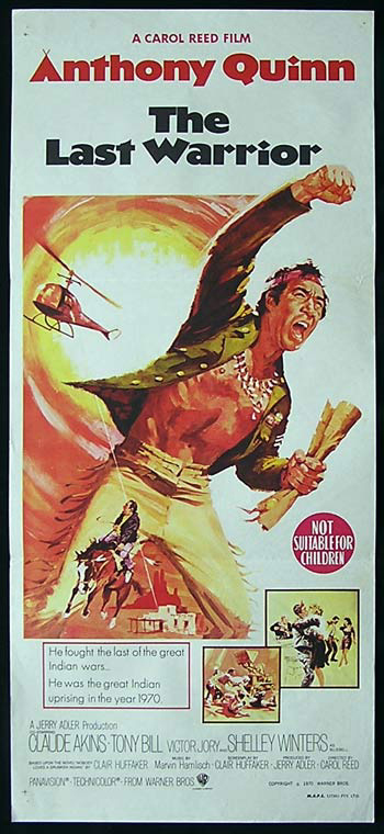 THE LAST WARRIOR aka FLAP Original Daybill Movie Poster Anthony Quinn