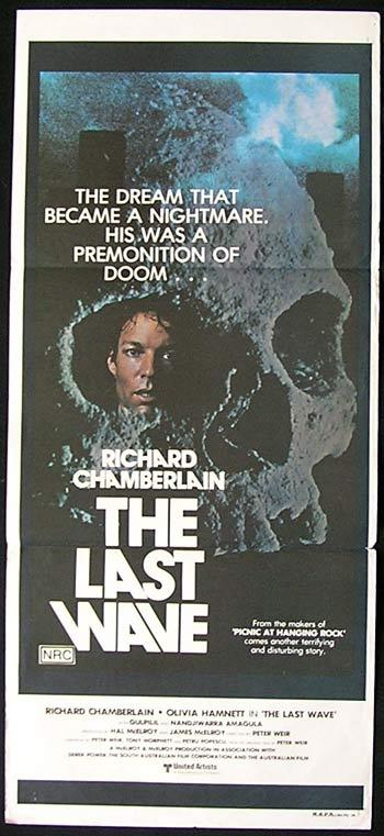 THE LAST WAVE 1977 Peter Weir SKULL STYLE daybill Movie poster
