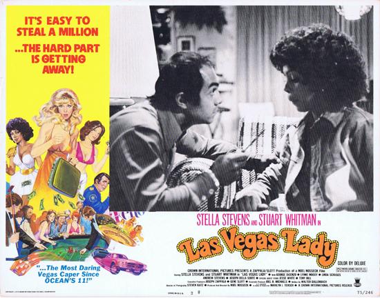 LAS VEGAS LADY Lobby Card 2 Stella Stevens Lynne Moody Lynda Scruggs