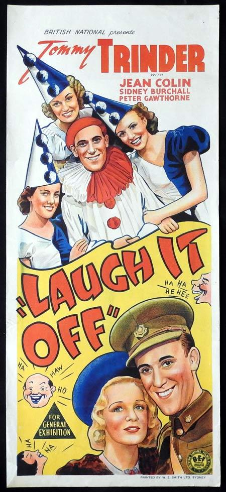 LAUGH IT OFF Original daybill Movie Poster Tommy Trinder Jean Colin