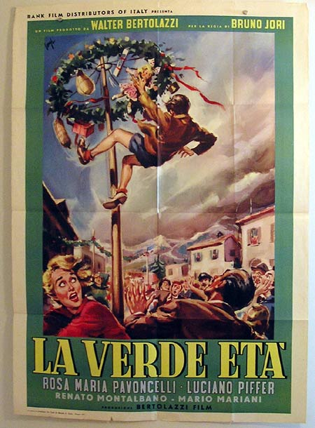 LA VERDE ETA '57 LONGI art ITALIAN Movie poster