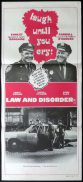 LAW AND DISORDER Original Australian Daybill Movie poster Carroll O'Connor Ernest Borgnine