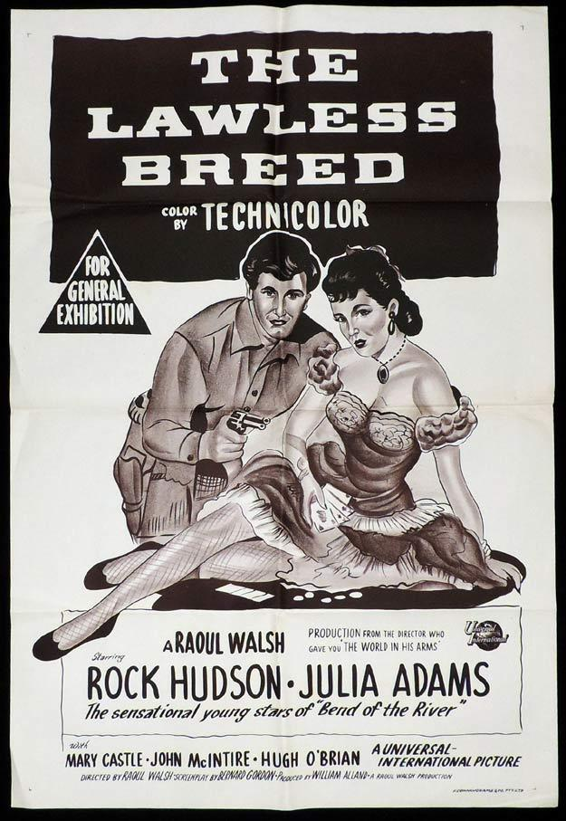 THE LAWLESS BREED One Sheet Movie Poster Rock Hudson
