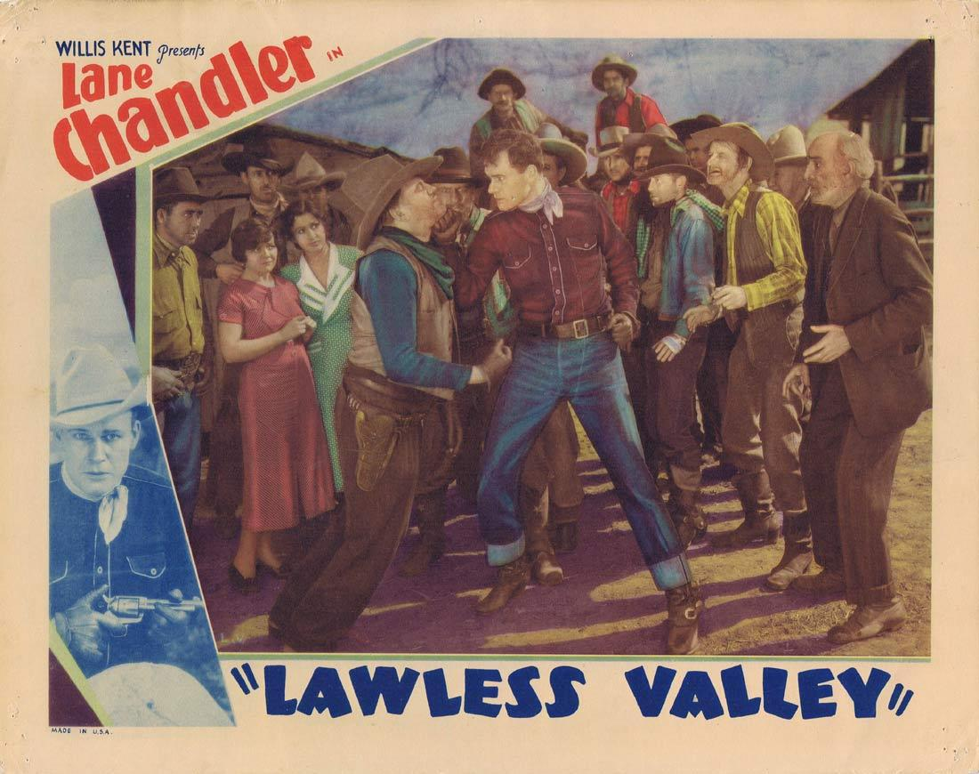 LAWLESS VALLEY Lobby Card George O'Brien Kay Sutton 1938 Western