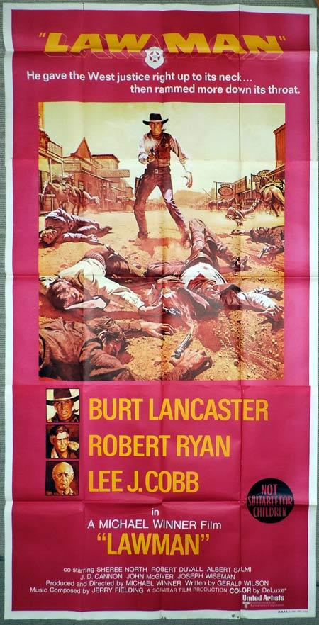 LAWMAN Original 3 Sheet Movie Poster Burt Lancaster