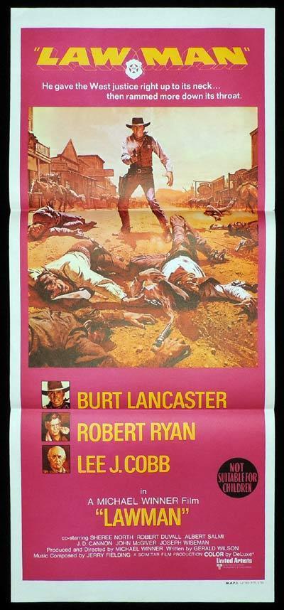 LAWMAN Daybill Movie Poster Burt Lancaster Western