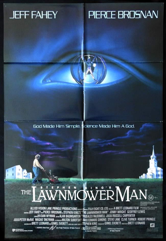 THE LAWNMOWER MAN Original One sheet Movie poster Pierce Brosnan