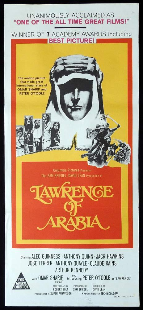LAWRENCE OF ARABIA 60sr Daybill Movie Poster Peter O'Toole