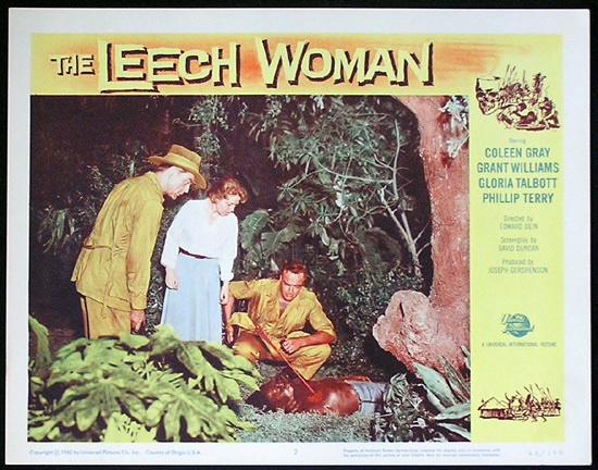 LEECH WOMAN Colleen Gray Sci Fi Lobby card 2