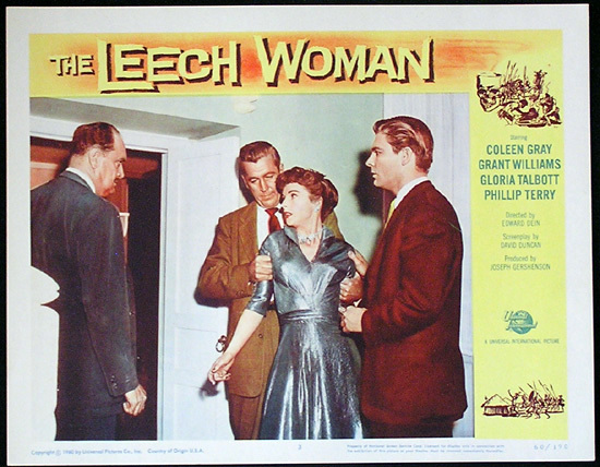 LEECH WOMAN Colleen Gray Sci Fi Lobby card 3