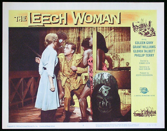 LEECH WOMAN Colleen Gray Sci Fi Lobby card 5