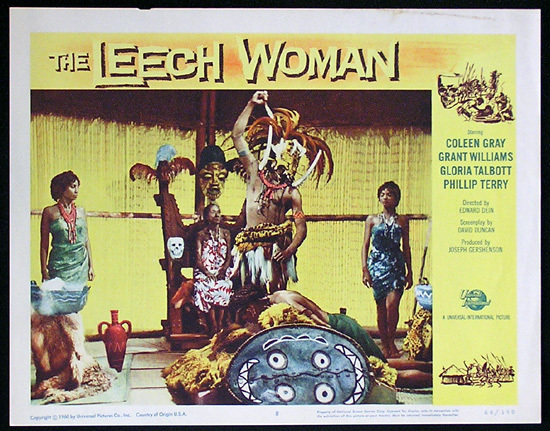 LEECH WOMAN Colleen Gray Sci Fi Lobby card 8