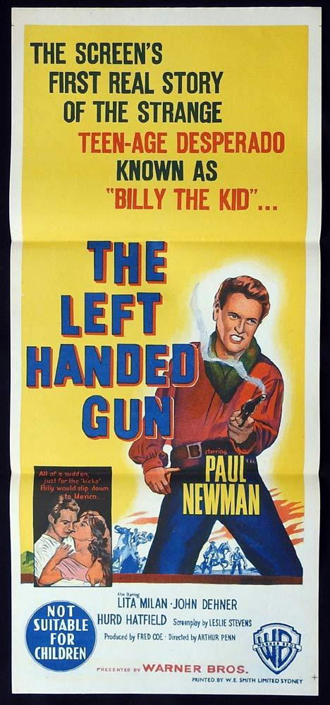 THE LEFT HANDED GUN Original Daybill Movie Poster Paul Newman