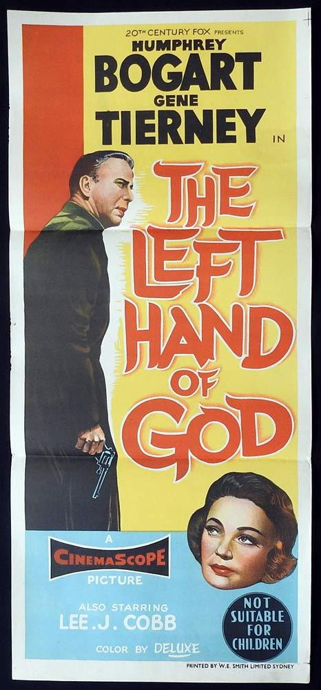 THE LEFT HAND OF GOD Original Daybill Movie Poster Humphrey Bogart