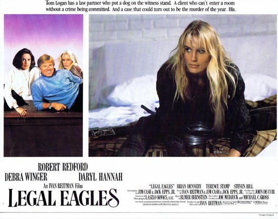 LEGAL EAGLES Darryl Hannah Rare English Lobby card