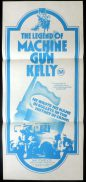 LEGEND OF MACHINE GUN KELLY aka MELVIN PURVIS G-MAN Daybill Movie poster Dale Robertson